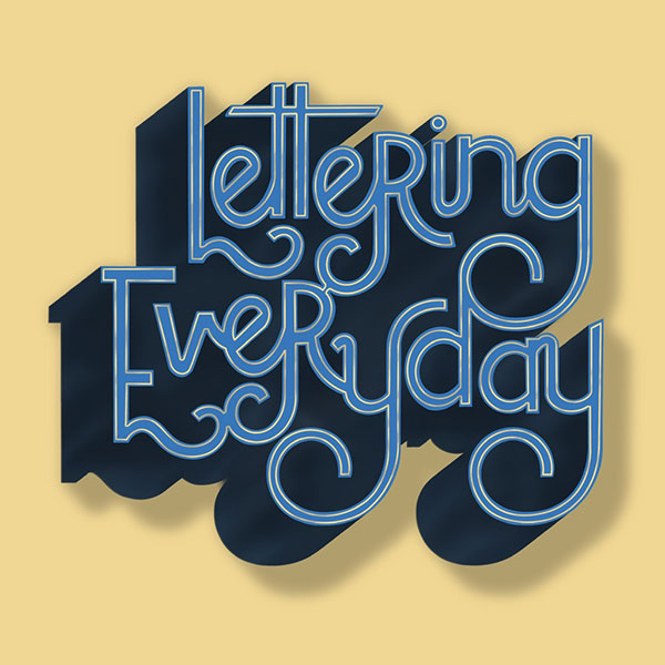 Lettering everyday - Le Studio - 13h14