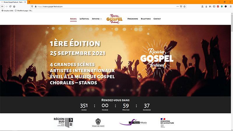 Création du site web du Riviera Gospel Festival