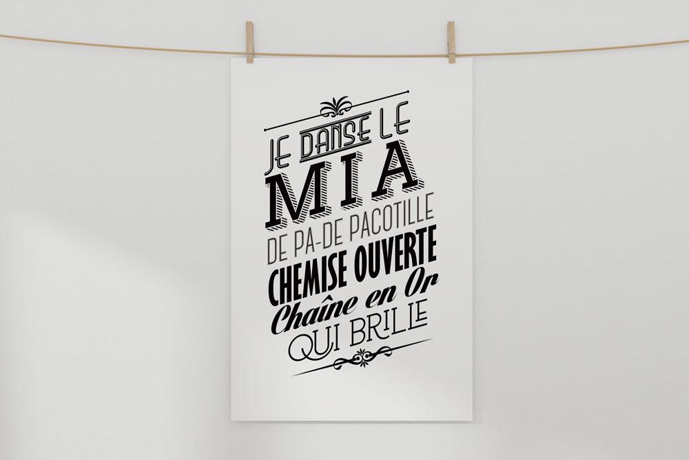 """Buzz pack - Création d'une affiche """"Mia"""""""