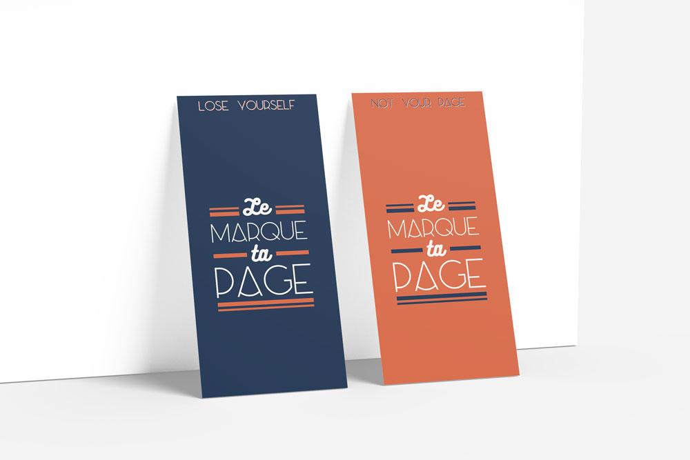 Création de marques pages typographiques