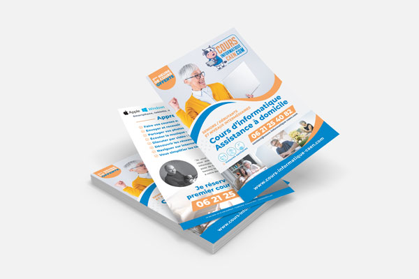 Cours informatique à Caen - Création d'un flyer