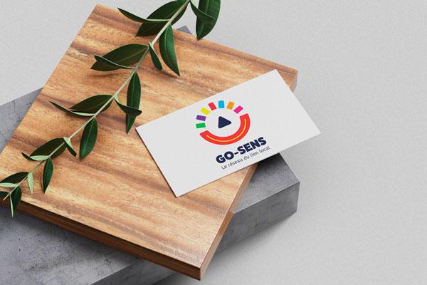 Go Sens - Création logo et carte de visite