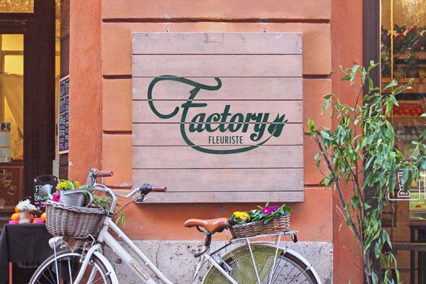 Fleuriste Factory - Création d'un logo